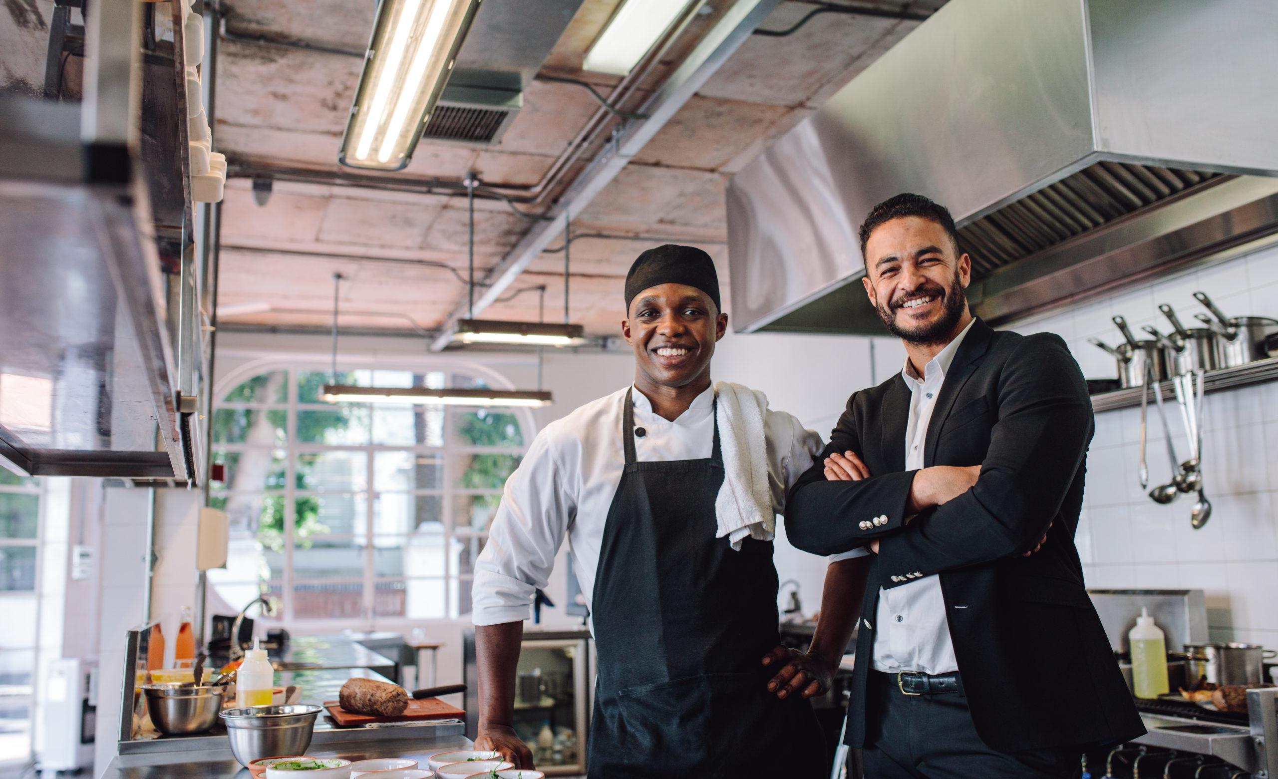 happy restaurant workers